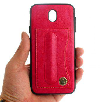 Leather Bracket Insert Card Cell Phone Shell For Samsung Galaxy J5 2017 J530 Case European Version Fashion Phone Case - SANGRIA