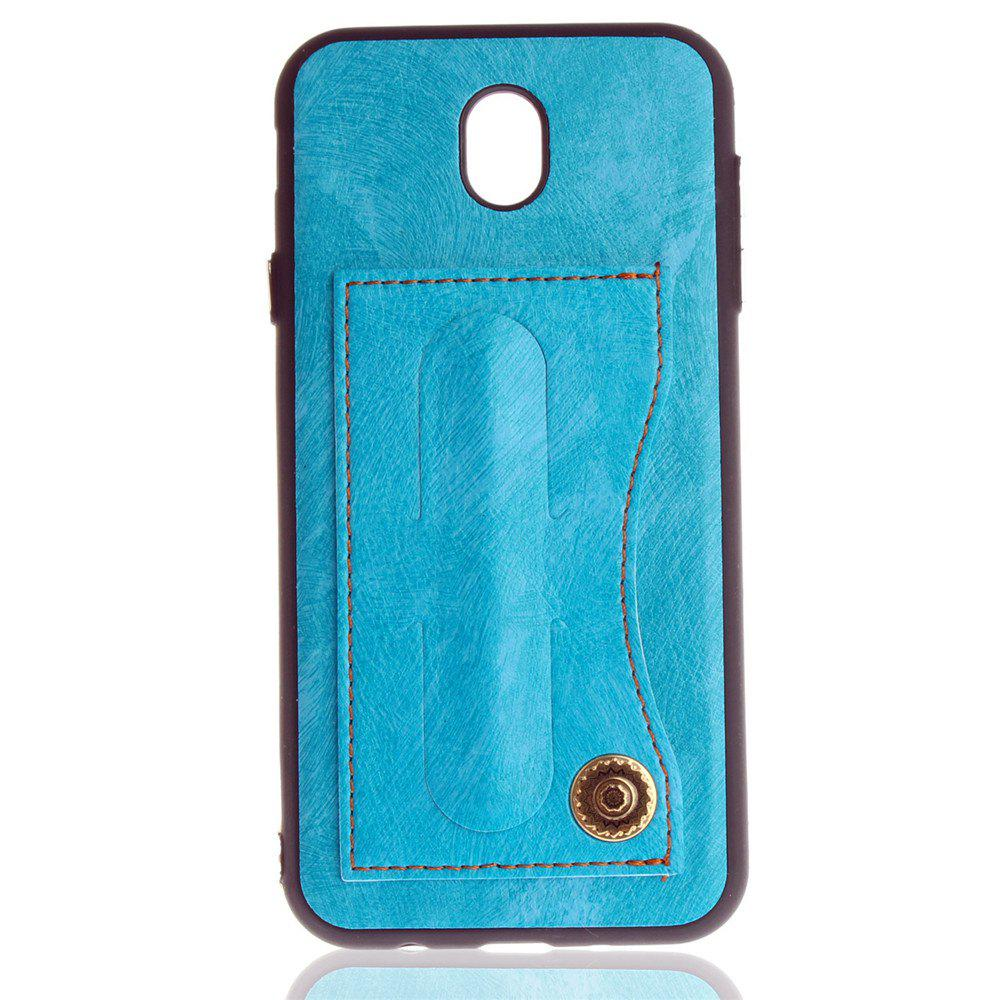 Leather Bracket Insert Card Cell Phone Shell For Samsung Galaxy J5 2017 J530 Case European Version Fashion Phone Case - WINDSOR BLUE