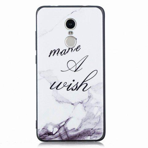 Marble Vein Soft Phone Back Cover Case For Xiaomi Redmi Note4/4X Anti-Knock Personality Case - WHITE