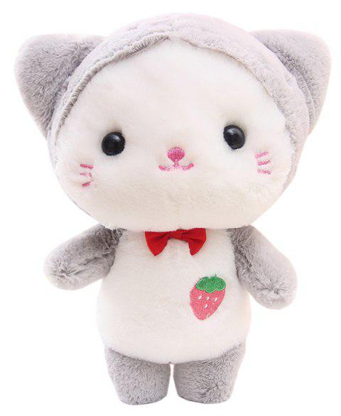 Super Cute Adorable Strawberry Baby Cat Pussy Rabbit Doll Plush Toy - WHITE