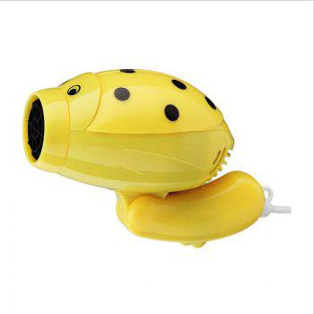 Hair Dryer Hot and Cold Airprofession Barbershop Cartoon Travel Portable - YELLOW