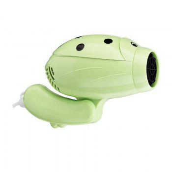 Hair Dryer Hot and Cold Airprofession Barbershop Cartoon Travel Portable - GREEN