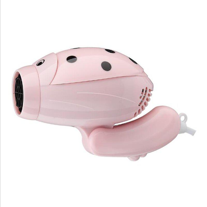 Hair Dryer Hot and Cold Airprofession Barbershop Cartoon Travel Portable - PINK