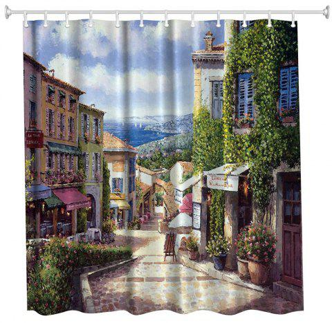 Oil Painting City Polyester Shower Curtain Bathroom High - Painting definition