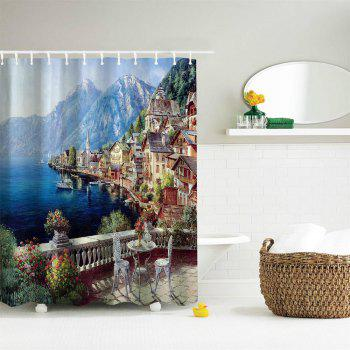 Polyester Shower Curtain Bathroom  High Definition 3D Printing Water-Proof - COLORMIX W71 INCH * L79 INCH
