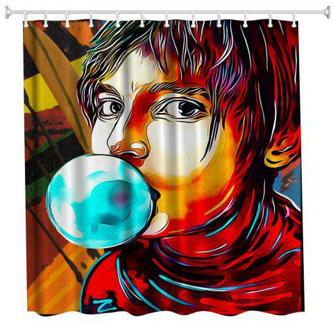 Anime Man God Polyester Shower Curtain Bathroom  High Definition 3D Printing Water-Proof - COLORMIX W71 INCH * L71 INCH