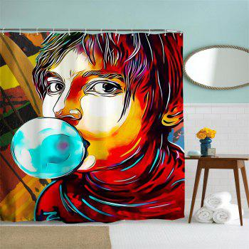 Anime Man God Polyester Shower Curtain Bathroom  High Definition 3D Printing Water-Proof - COLORMIX W59 INCH * L71 INCH