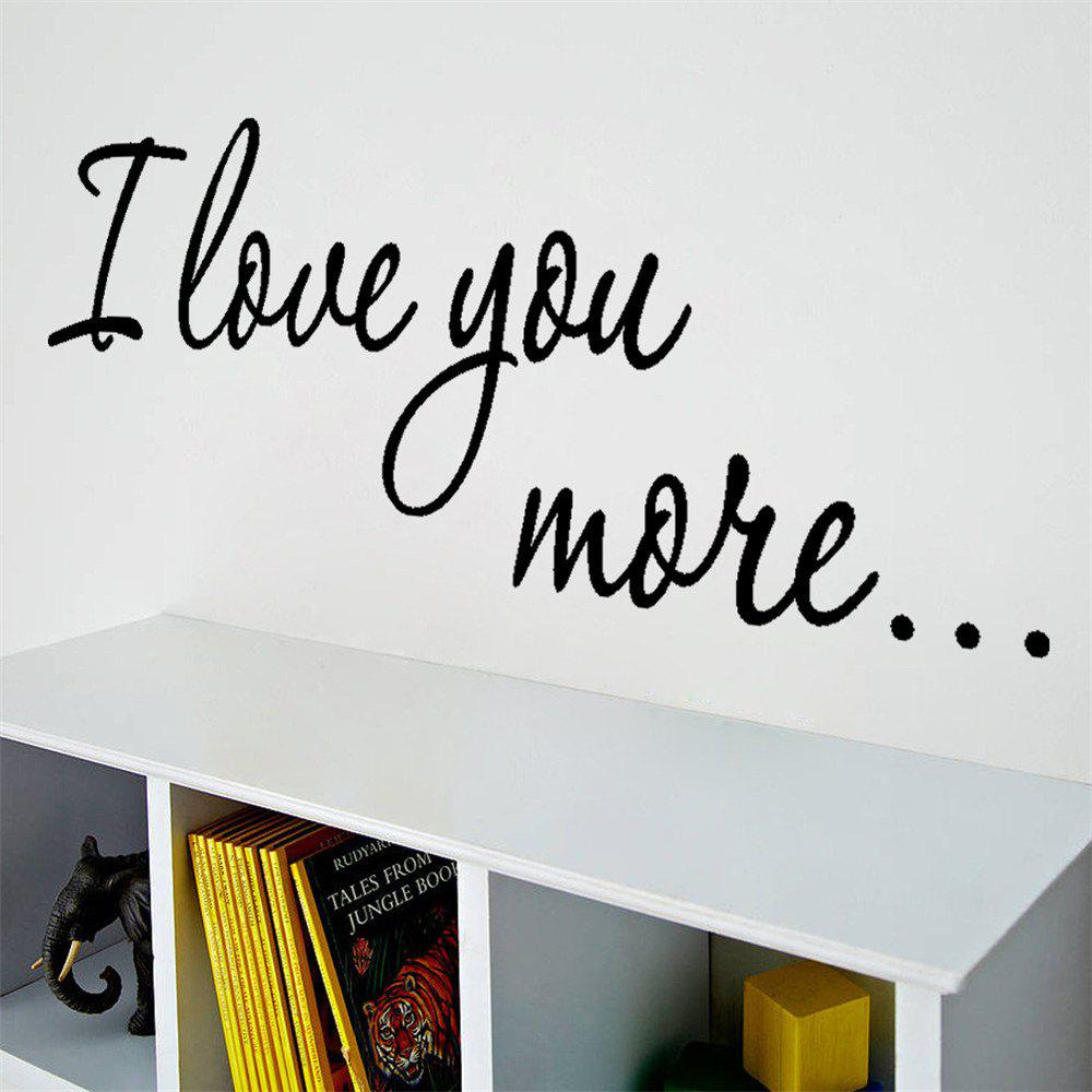 Фото Quote Wall Sticker I Love You For Home Decoration Waterproof Removable Decals home decoration removable quote wall art sticker