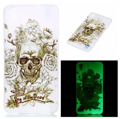 Cover Case for  Huawei Honor 5A Skull Roses Soft TPU Thin Transparent Noctilucence Cover Shell Case - COLOUR