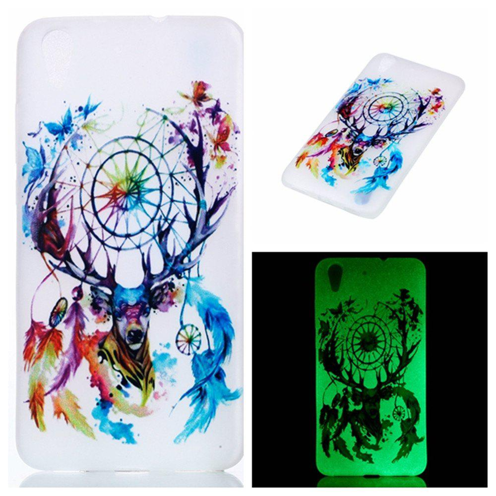 Cover Case for Huawei Honor 5A  Deer Head Wind Chimes Soft TPU Thin Transparent Noctilucence Cover - COLOUR