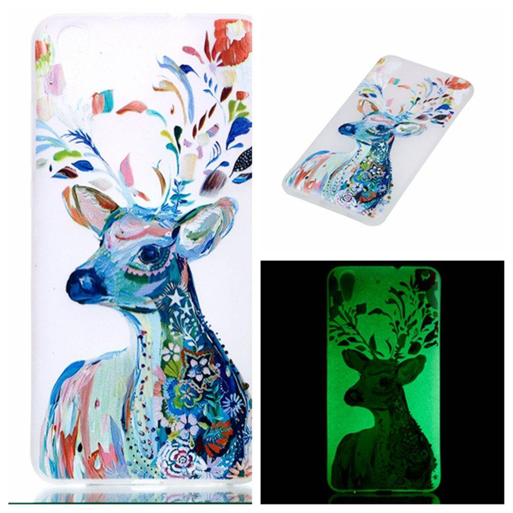 Housse de protection pour Huawei Honor 5A Aquarelle Deer Soft TPU Mince Transparent Noctilucence Couverture - Couleur