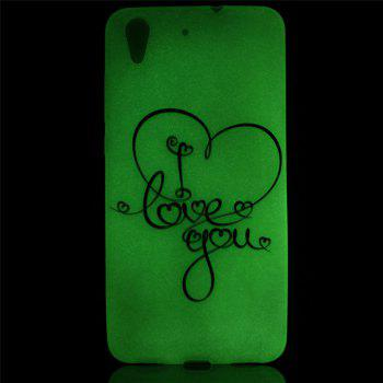 Cover Case for Huawei Honor 5A  Love You Painted Soft TPU Thin Transparent Noctilucence Cover Shell Case - COLOUR