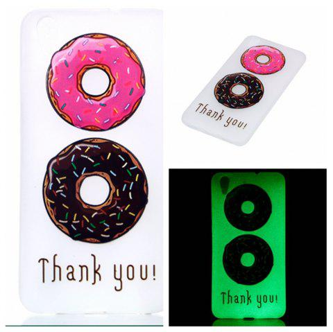 Cover Case for Huawei Honor 5A  Double Donut Soft TPU Thin Transparent Noctilucence Cover Shell Case - COLOUR