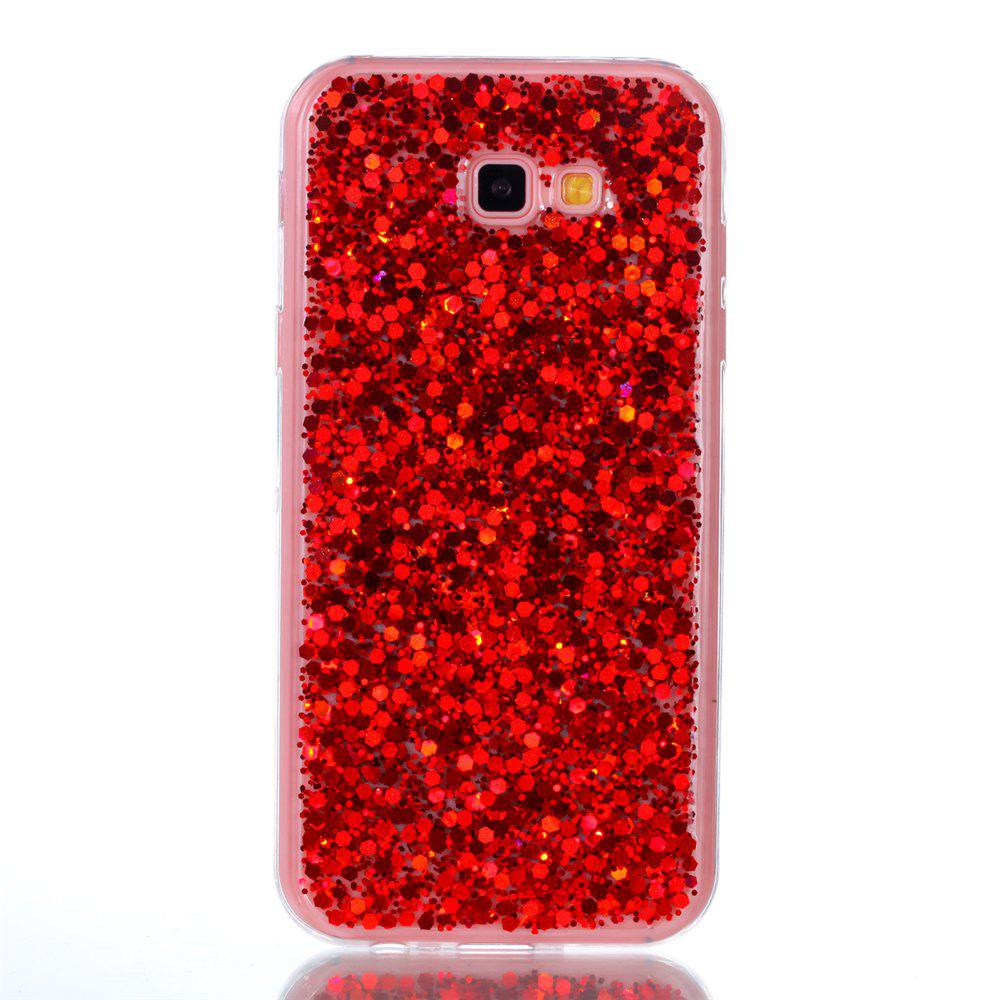 Phone Case For Samsung Galaxy A7 2017 A720 Luxury Flash Soft TPU Phone Case - RED