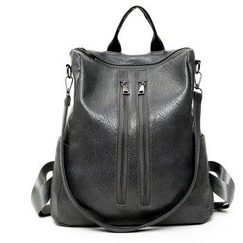 Backpack Women Wild Casual Student Soft Leather
