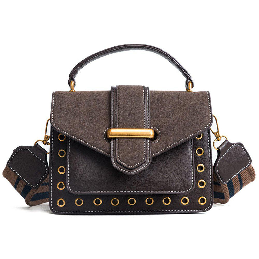 Small Female Wild Messenger Shoulder Bag Fashion Atmosphere Square Package - COFFEE