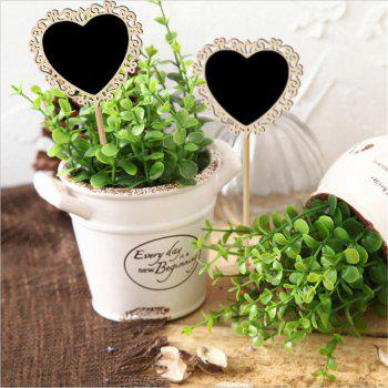 170814 Hollow Heart-Shaped Blackboard Wedding Parties Decoration (10 Pack) - WOOD