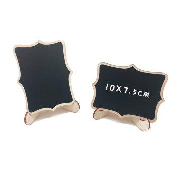 170627 Lace Display Blackboard Wooden Crafts Decorative Ornaments Home Furnishing Party (10 Pack) - WOOD