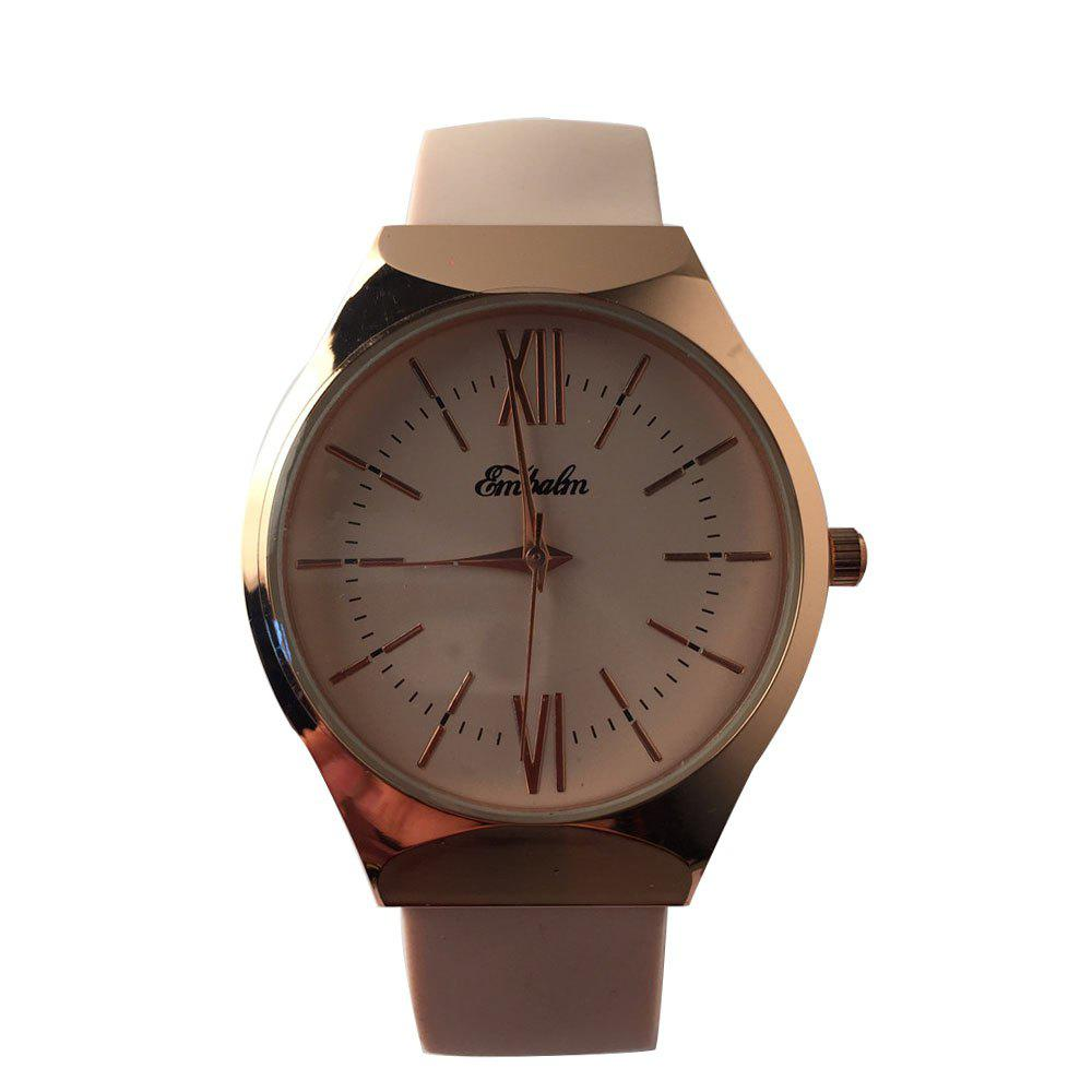 EMBALM 0001 New Ladies Round Silicone Watch - COFFEE FEMALE