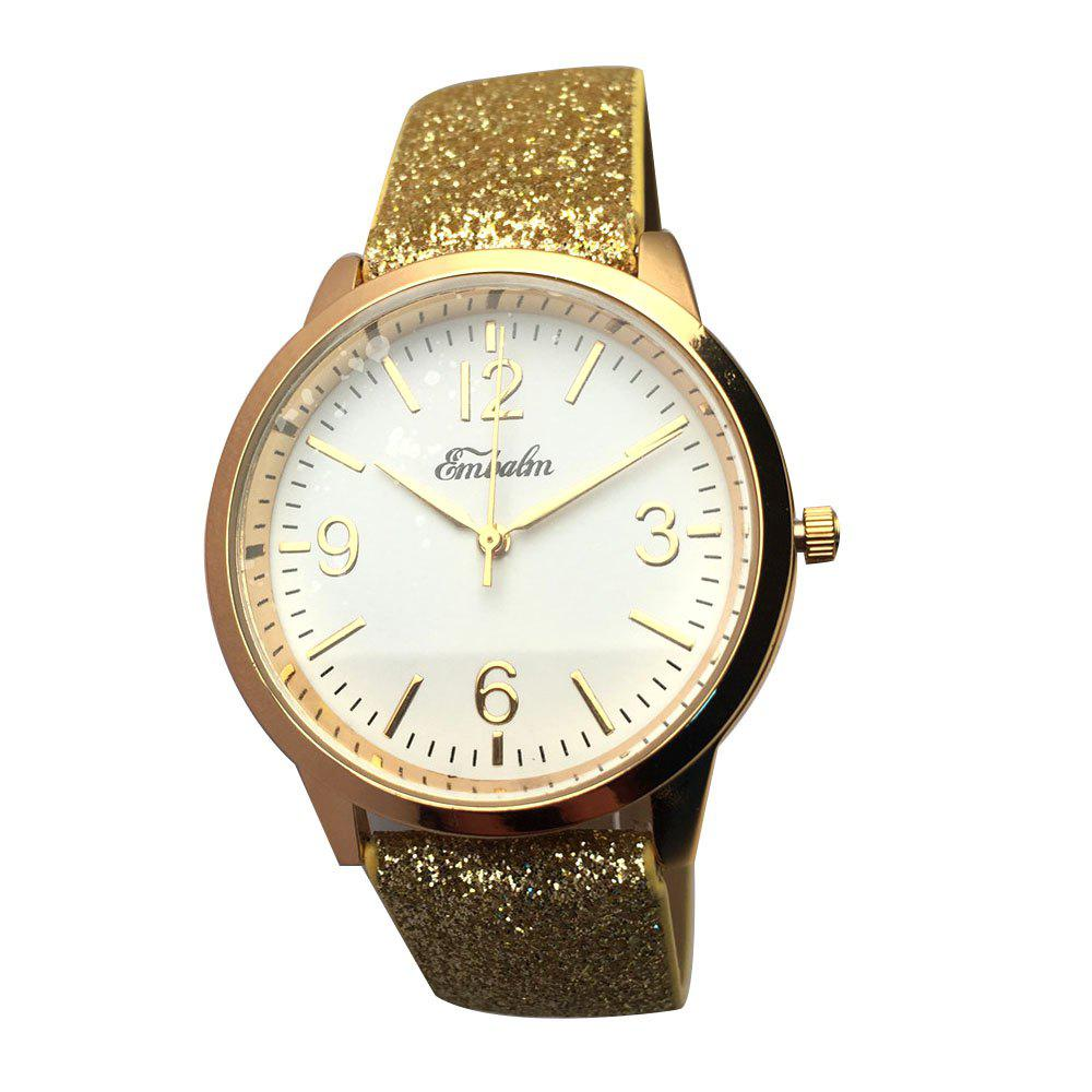 EMBALM 0003 Ladies Fashion PU Band Watch - GOLDEN FEMALE