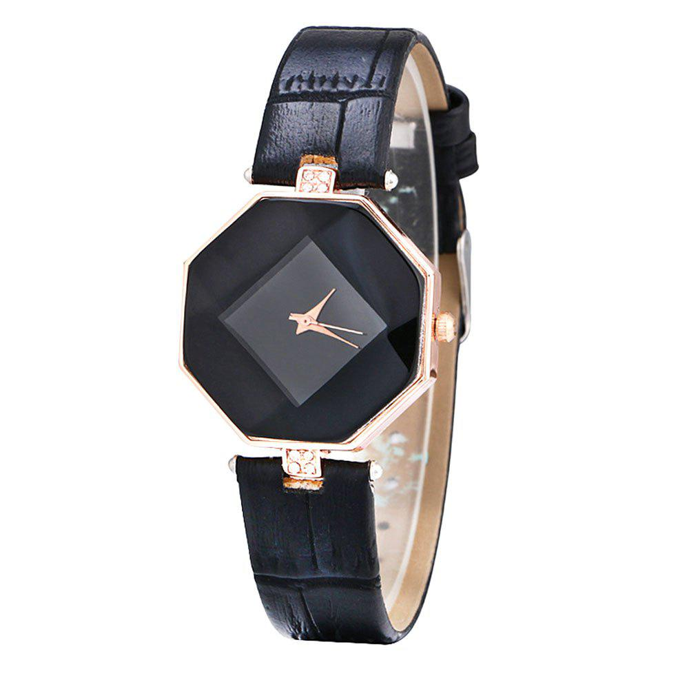 Hot Prism Diamond Crystal Strap Fashion Ladies Watch - BLACK FEMALE