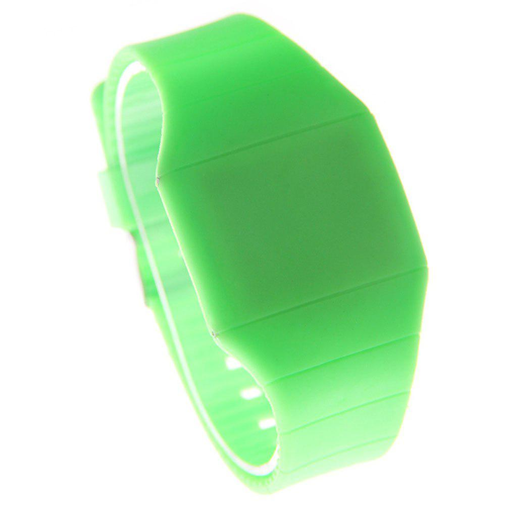 LED Silicone Electronic Ultra-Thin Touch Screen Watch - GREEN FEMALE