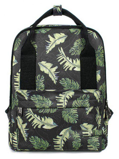 Kid's Bag Colorful hand Painted Pattern Portable Casual Travel Computer Bag - GREEN