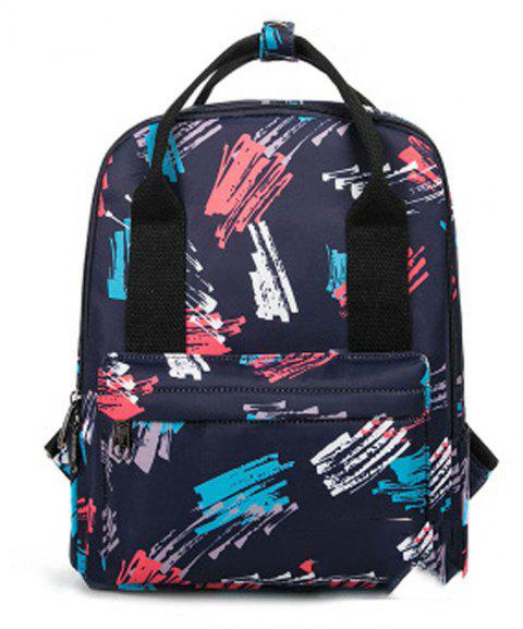 Kid's Bag Colorful hand Painted Pattern Portable Casual Travel Computer Bag - RED