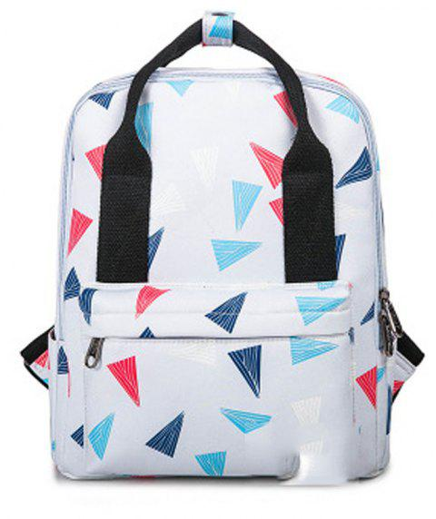 Kid's Bag Colorful hand Painted Pattern Portable Casual Travel Computer Bag - TRIANGLE PATTERN