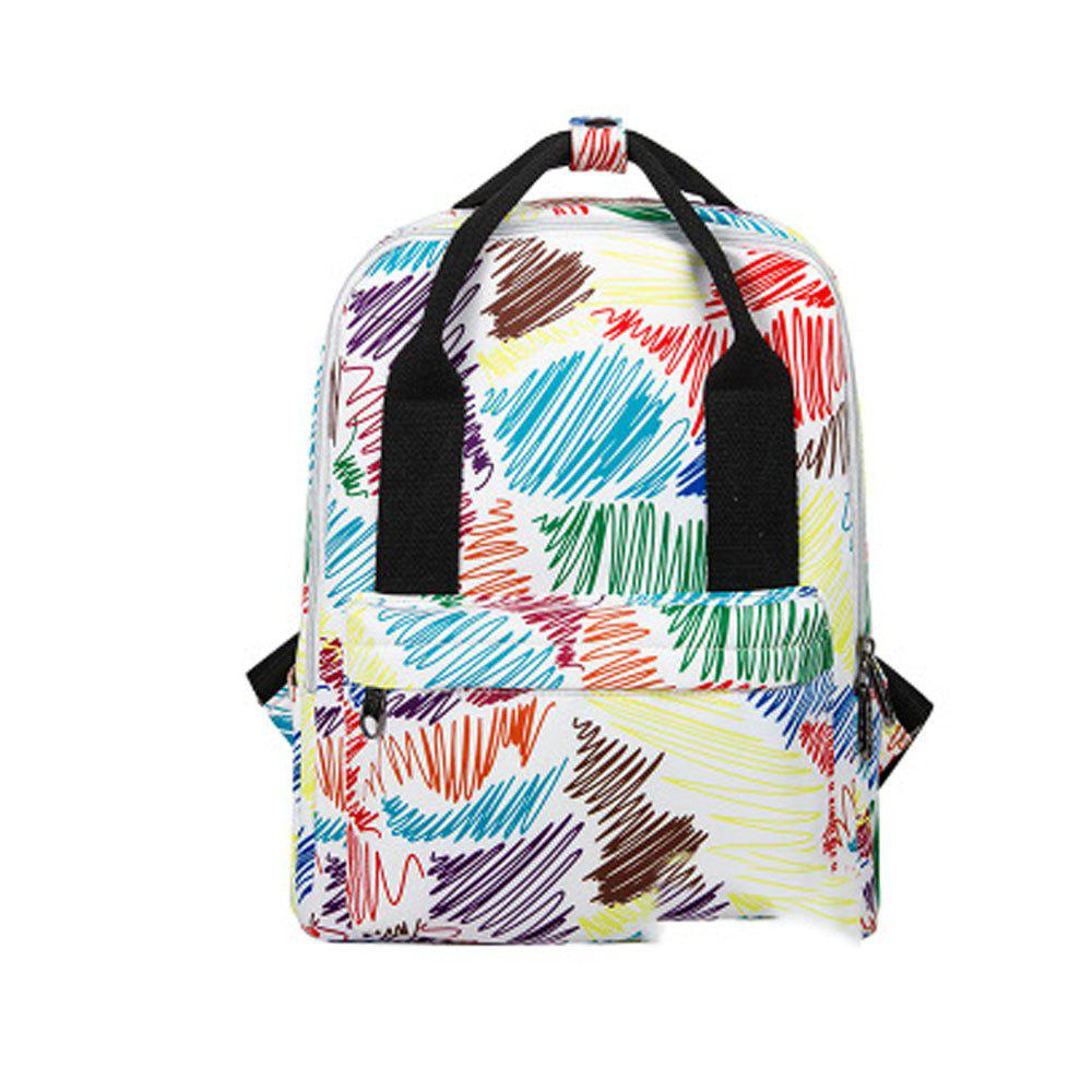 Kid's Bag Colorful hand Painted Pattern Portable Casual Travel Computer Bag - FUSION