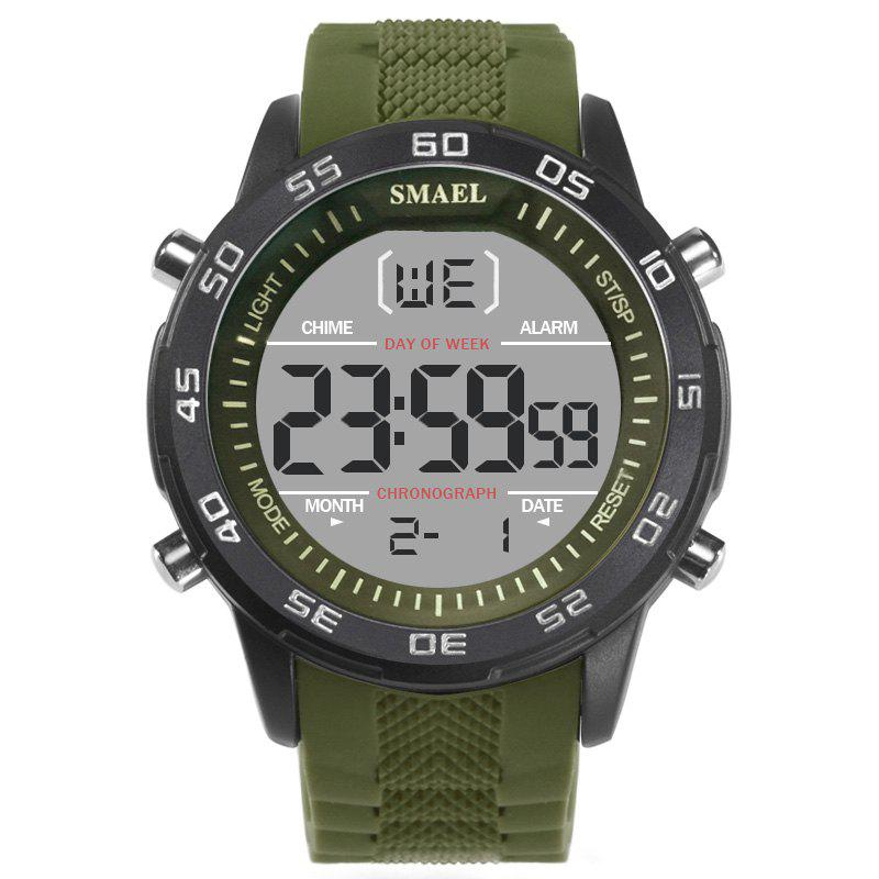 SMAEL 1067  Multi-function Waterproof Electronic Watch - ARMY GREEN