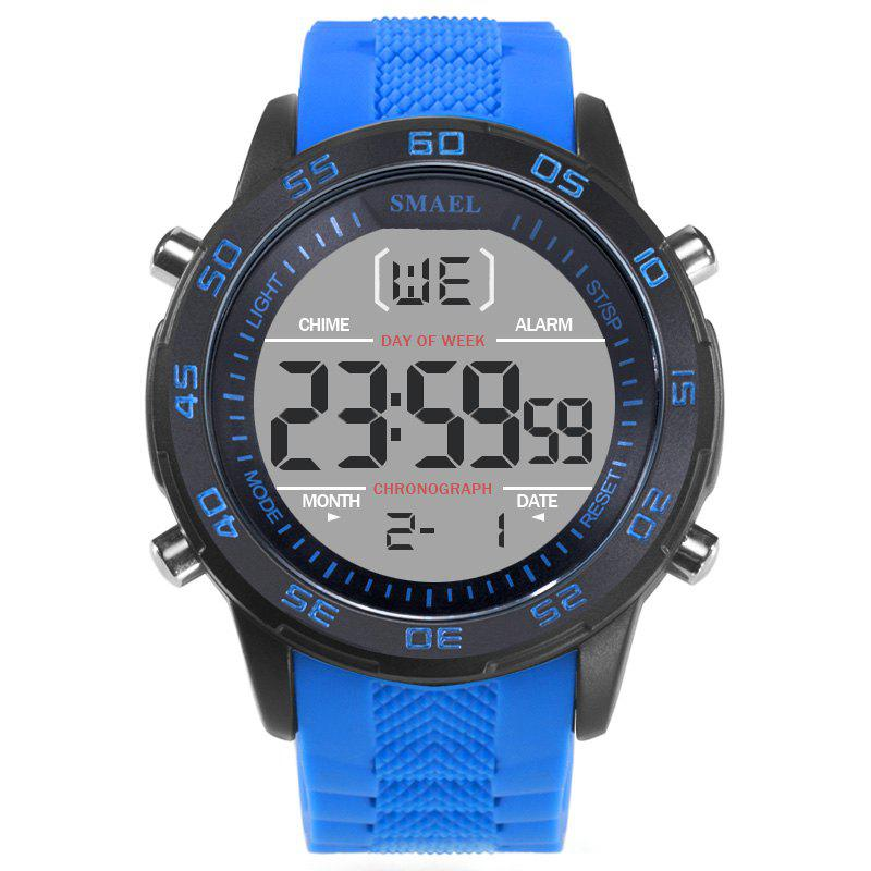 SMAEL 1067  Multi-function Waterproof Electronic Watch - BLUE