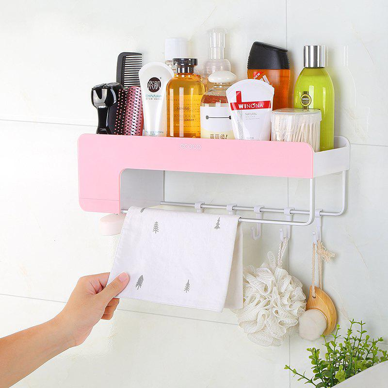 Suction Wall Bathroom Bathroom Suction Wall Rack - PINK 13X40X12CM