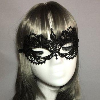 Creative Party Supplies Stereotypes Lace Small Pointed Sexy Masks - BLACK