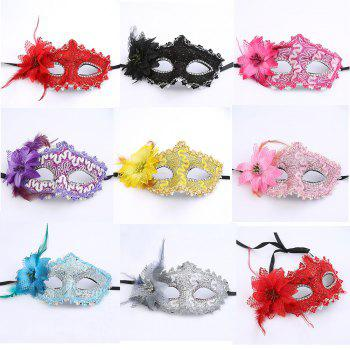 Hot Sexy Lady Masquerade Party Rose Flower Face Mask Beautiful Princess Flowers - RED