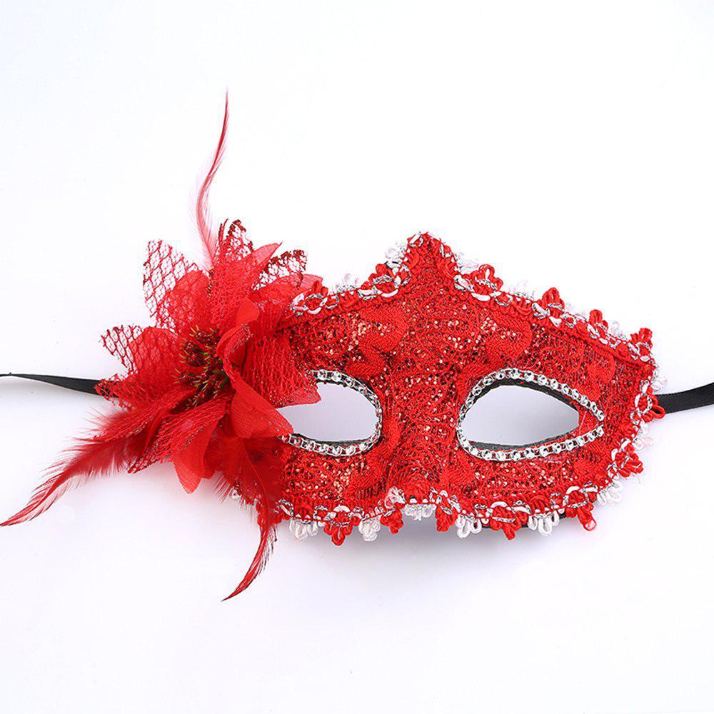 Hot Sexy Lady Masquerade Party Rose Flower Face Mask Beautiful Princess Flowers yeduo black sexy lady lace mask for masquerade halloween party fancy dress costume