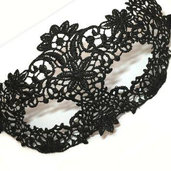 Masquerade Lace Pattern Sexy Masks - BLACK