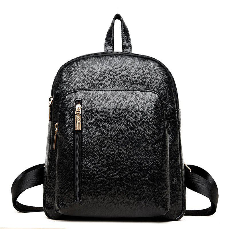 2018 New Pu Soft Leather Backpack Female Bag Small Pure and Fresh ...