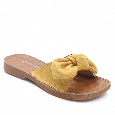Retro Butterfly Knot Sandals for Leisure Beach - YELLOW 36