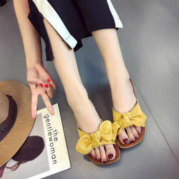 Retro Butterfly Knot Sandals for Leisure Beach - YELLOW 37