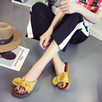 Retro Butterfly Knot Sandals for Leisure Beach - YELLOW 35