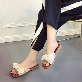 Retro Butterfly Knot Sandals for Leisure Beach - BEIGE 37