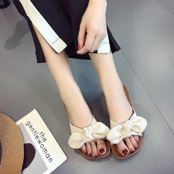 Retro Butterfly Knot Sandals for Leisure Beach - BEIGE 35