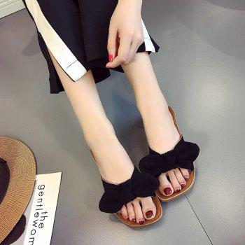 Retro Butterfly Knot Sandals for Leisure Beach - BLACK 36