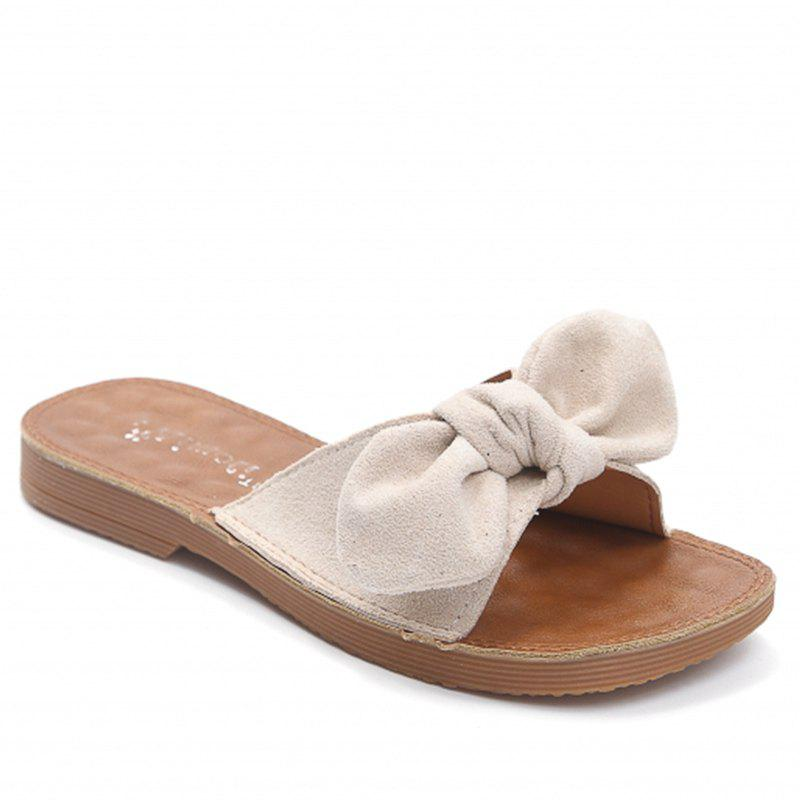 Retro Butterfly Knot Sandals for Leisure Beach - BEIGE 40