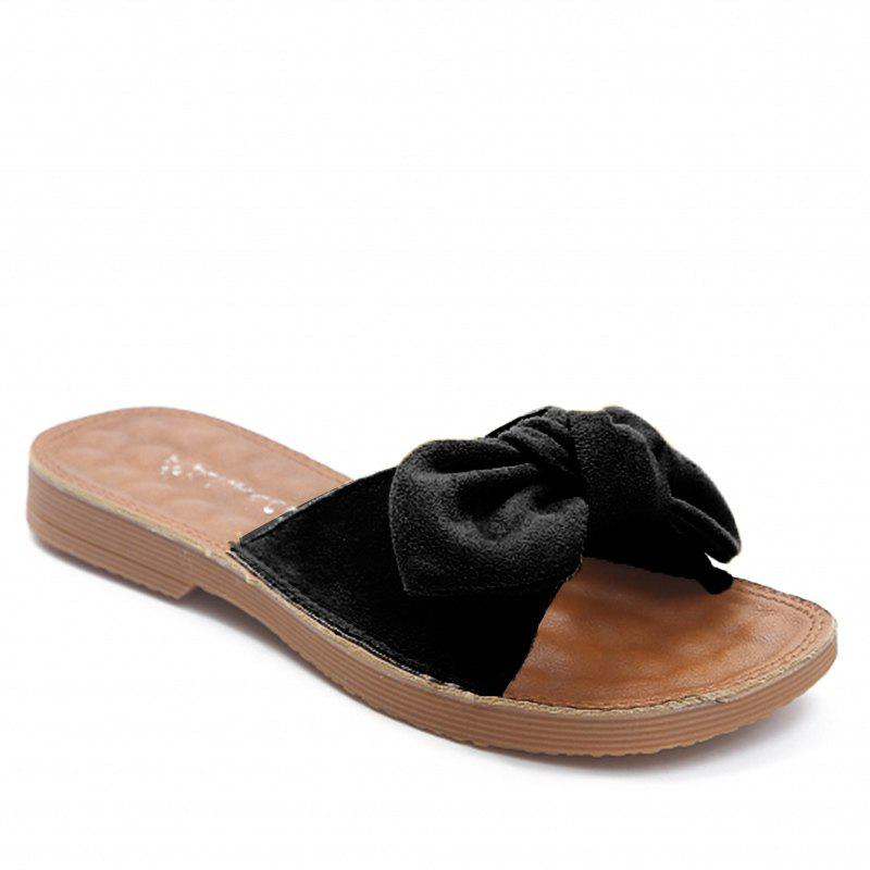 Retro Butterfly Knot Sandals for Leisure Beach - BLACK 38
