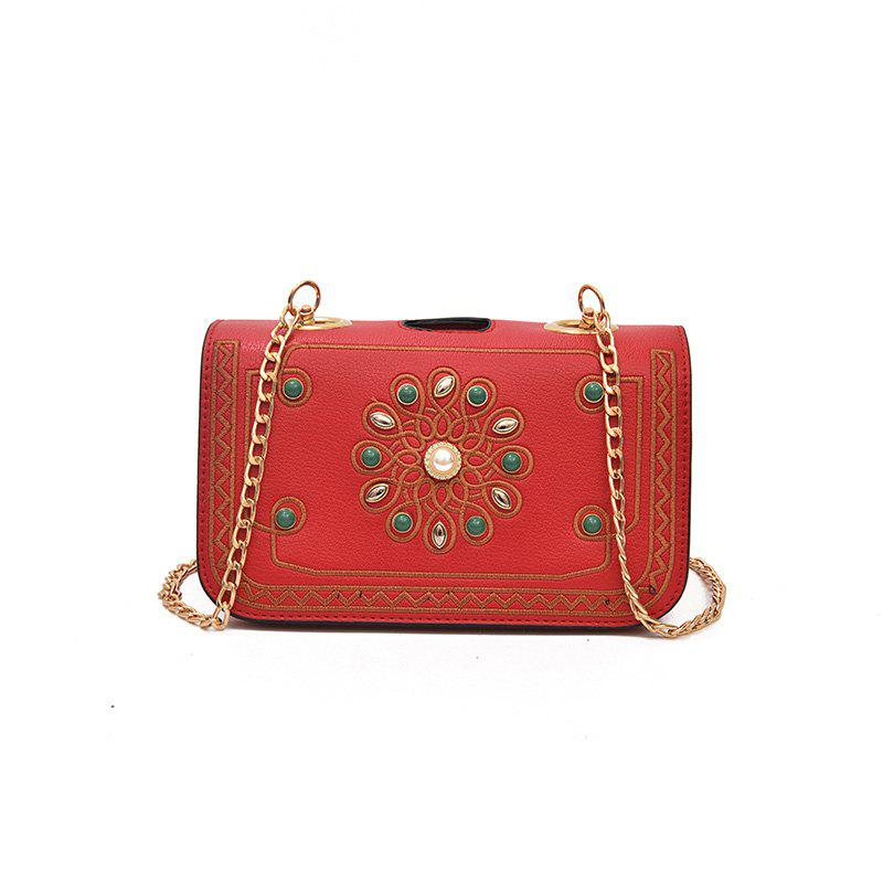 Individual Multi-layer Clip Chain Crossbody Bag - RED