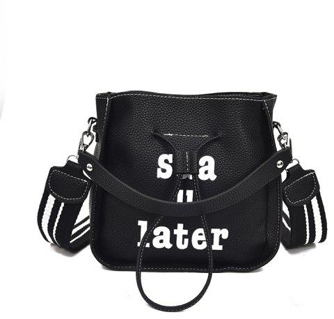 Letters Into Color Crossbody Bag - BLACK