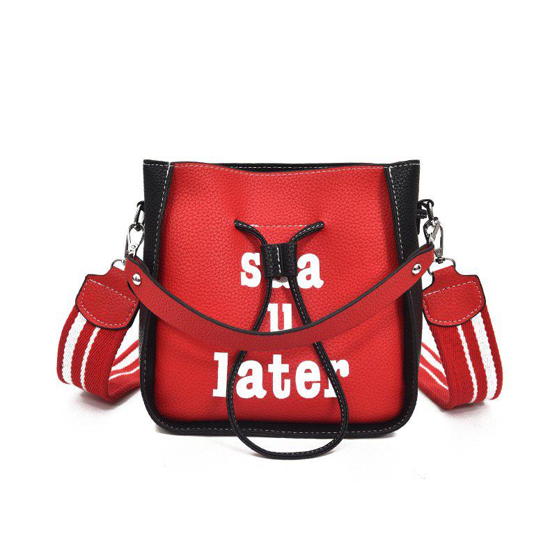Letters Into Color Crossbody Bag - RED