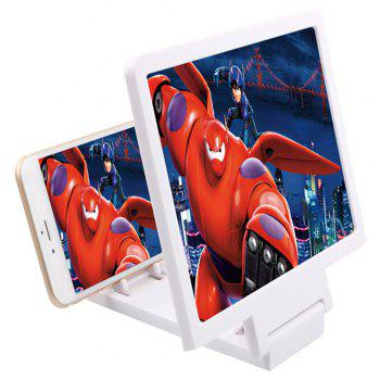 3 D Mobile Phone Screen Magnification Artifact - WHITE
